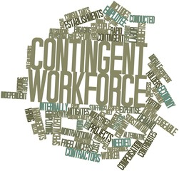 Word cloud for Contingent workforce