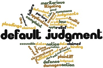 Word cloud for Default judgment