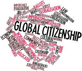 Word cloud for Global citizenship
