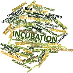Word cloud for Incubation