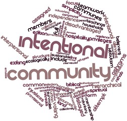 Word cloud for Intentional community
