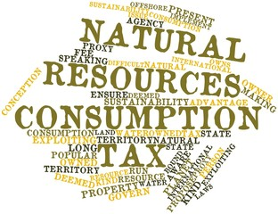 Word cloud for Natural resources consumption tax