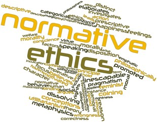 Word cloud for Normative ethics