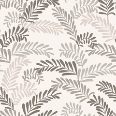 Seamless stylish leaf pattern