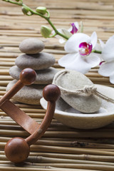 Acrylic Prints Stones in Sand pure wellbeing at the beauty salon