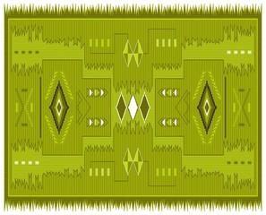 native pattern yellow
