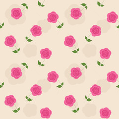 Pink flowers on a yellow background