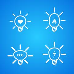 icon set of light bulbs
