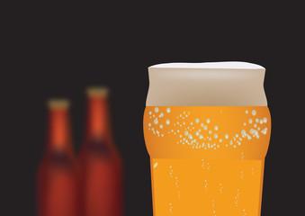 bicchiere con birra