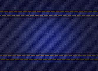 Jeans background frame. Blue denim. Illustration