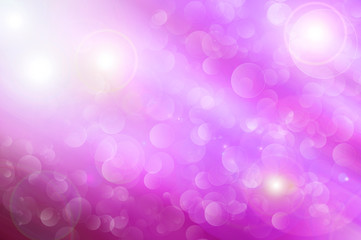 Pink background with bokeh bubbles