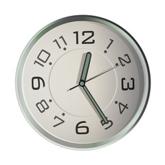 Nice watch on isolated white background. Vector design.