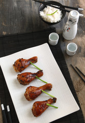 Asian-marinated baked chicken