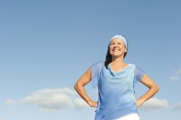 Happy mature woman positive portrait