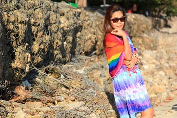 lady on Nopparat-thara Beach