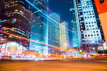 Fotomurales - night scene of modern city