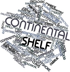 Word cloud for Continental shelf