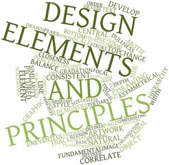 Word cloud for Design elements and principles