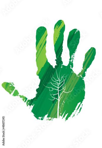 Avoir la main verte stock image and royalty free vector files on pic 48617245 - Avoir la main verte ...