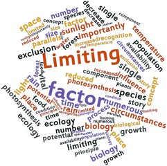 Word cloud for Limiting factor