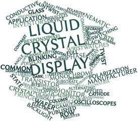 Word cloud for Liquid crystal display