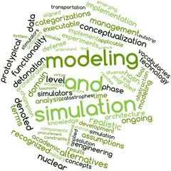Word cloud for Modeling and simulation