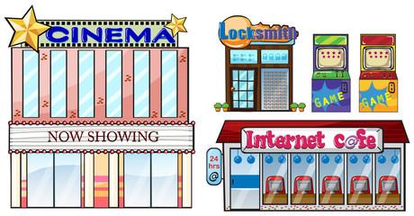 Set of shops