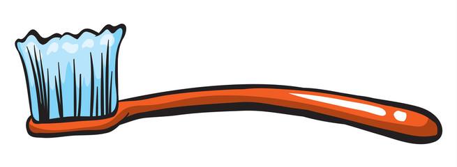 An orange brush