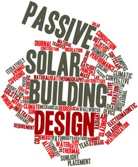 Word cloud for Passive solar building design