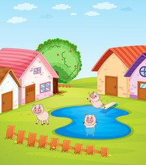 Pigs and houses
