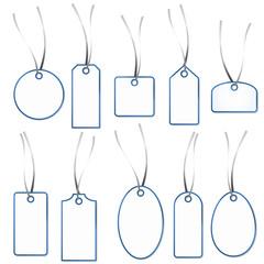Anhänger Sammlung - weiß-blau