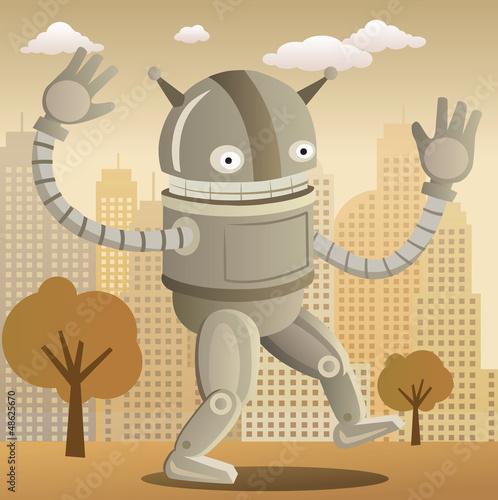 Robot (retro colors)