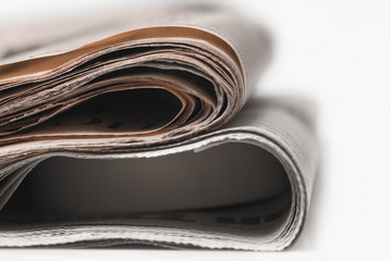 Close-up of two newspapers