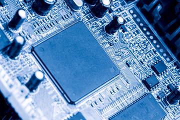 electronic circiut board close up