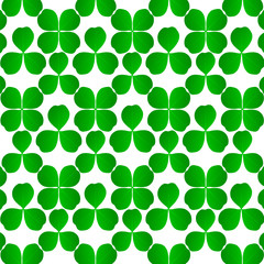 Four leaf clover shamrock luck vector background