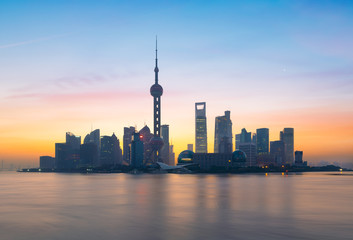 Aluminium Prints Asian Famous Place Shanghai skyline