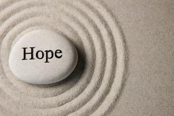 Deurstickers Zen Hope