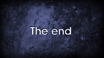 The end (Fin) back ground