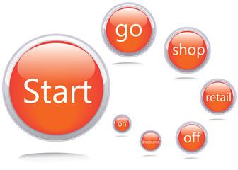 Vector icons.Start go shop