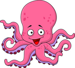 Funny octopus cartoon