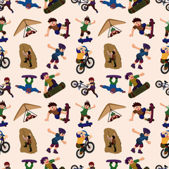 seamless extreme sport pattern