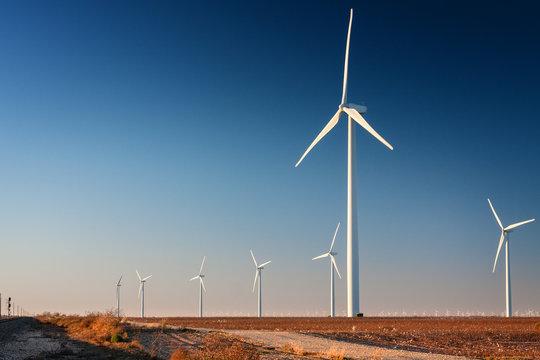 Tall Wind Turbine in  West Texas