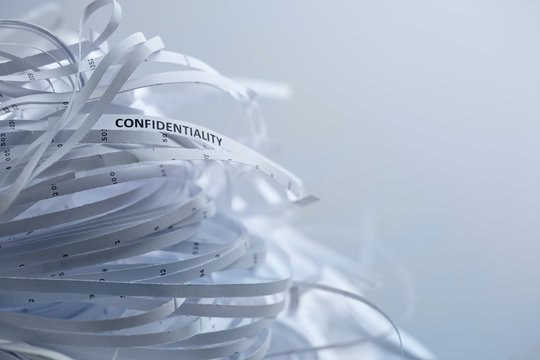 Pile of shredded paper - confidentiality