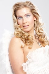 Angel like woman