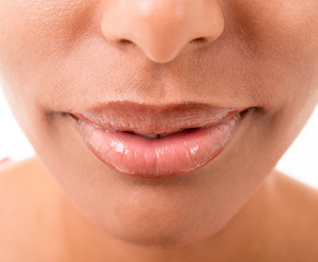 woman's mouth close up
