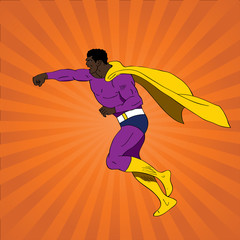 Photo sur Plexiglas Super heros Vector illustration of comic book superhero