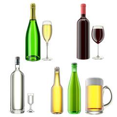 alcohol clipart set