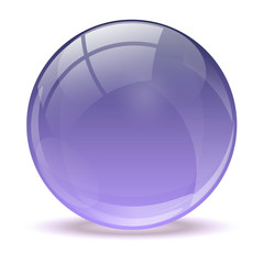 Purple abstract 3d icon ball