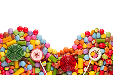Printed kitchen splashbacks Candy sweets