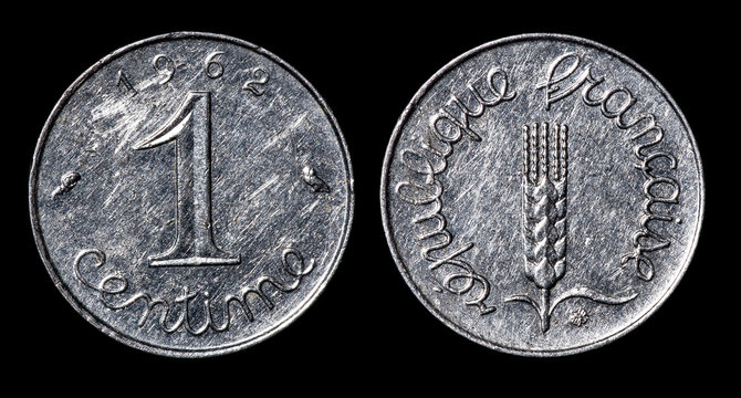 Antique coin of 1 centime